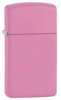 Zippo Slim Windproof Pink Matte Lighter, 1638, New In Box