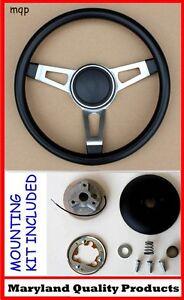 Cuda Barracuda Roadrunner Fury 3 Spoke Tuff Black Steering Wheel
