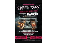 2 x Green Day tickets for glasgow