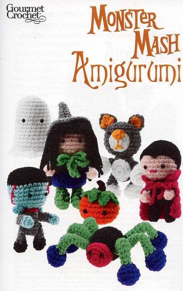 Monster Mash Amigurumi Witch Cat Vampire Spider Gourmet Crochet ...