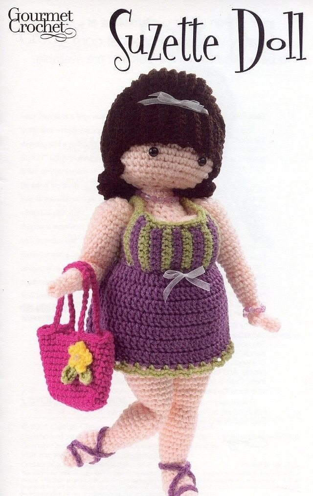 "Irish Crochet 17/"" Doll Outfit Annie/'s PATTERN//INSTRUCTIONS Leaflet NEW"