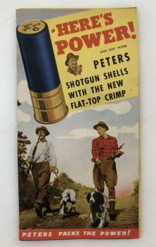 1940s PETERS SHOTGUN SHELLS Vintage Advertising Brochure Hunting Gun