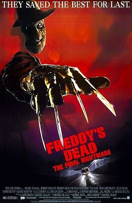 A Nightmare On Elm Street movie poster (b) 11 x 17 inches - Freddy's Dead poster