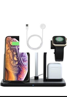 3 in 1 Wireless Charger Charging Stand Docking Station For iPhone, Android,Watch Wireless Docking Station