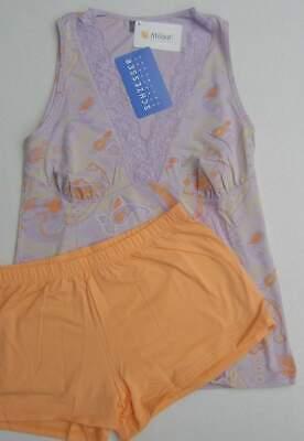 Modal Schlafen Kurz (Neu Schiesser Damen kurzer Schlafanzug Shorty Baumwolle + Modal flieder Gr 38 %)