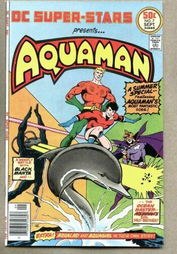 DC Super-Stars #7-1976 vf/nm Super Stars Giant Size Aquaman Aqualad