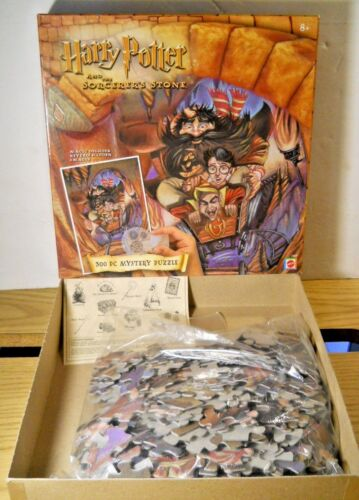 Harry Potter Sorcerer's Stone GRINGOTTS RIDE 300 Pc Magic Puzzle Hagrid Griphook