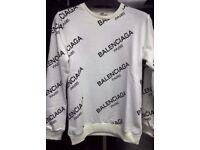 Balenciaga Paris Designer all over sweatshirt/jumper