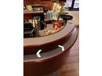 Caffe counter, display fridges, panini maker