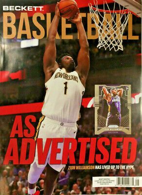 New May 2020 Beckett Basketball Card Price Guide Magazine With Zion Williamson