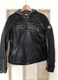 Ladies Harley Davidson 3 in 1 leather jacket