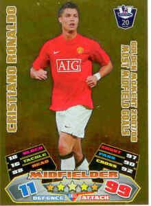 2011/12 Topps Premier League Match Attax Golden Moment GM33 Cristiano Ronaldo