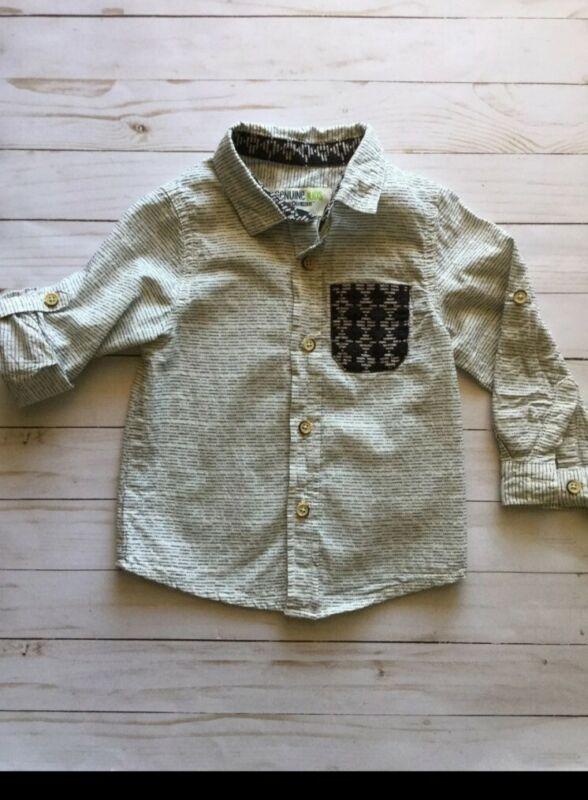 Osh Kosh 2t Long Sleeve Button Up Dress Shirt Boys Toddler Aztec Tribal Pattern