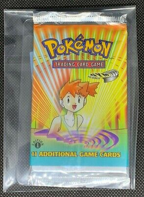 BOX BREAK UNWEIGHED! GYM HEROES 1ST EDITION BOOSTER PACK POKEMON CARD MISTY ART