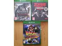 Xbox one assassin's creed syndicate - zombie army trilogy - back to the future games