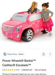 Pink Power  Wheels Cadillac Escalade For Sale