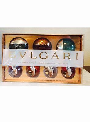 $70, Bvlgari Men/Women's 7 Aqua/ Amara Iconic Miniature fragrances EDT. 0.17Oz
