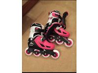 Brand new in box girls roller blades - size 12-1