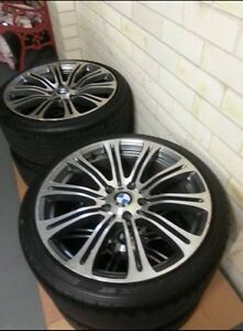 4 x 19 inch BMW M3 wheels with 70% tread on tyres Mount Annan Camden Area Preview