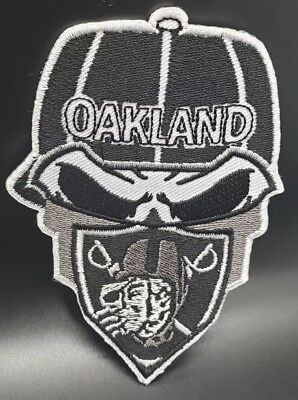 ana~Embroidered Iron On Patch~Free Shipping from the USA~ (Raiders Bandana)