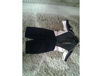 Gul ladies wet suit zipped front short sleeves and legs size 12