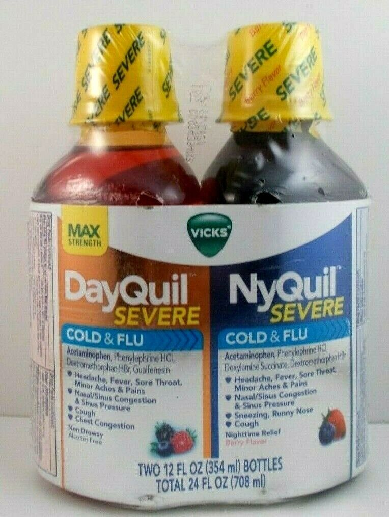 Vicks NyQuil & DayQuil SEVERE Cough, Cold and Flu Relief Liq