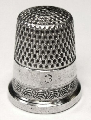 "Antique Ketcham & McDougall Child's Sterling Silver Thimble  ""Palmettes""  C1880s"