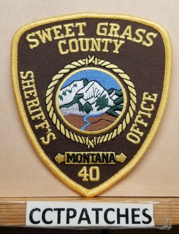 SWEET GRASS COUNTY, MONTANA SHERIFF (POLICE) SHOULDER PATCH MT