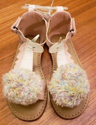 Girls Navy Sandals (NEW Old Navy Toddler Girls SIZE 9 / 11 Unicorn Sandals PINK & TAN)