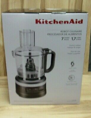 KitchenAid Food Processor 7 cups Matte Black KFP0718BM (Minor Box Damage)