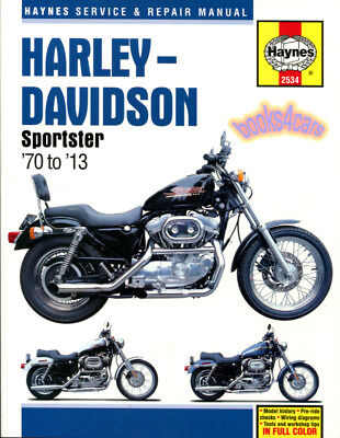 HARLEY DAVIDSON SPORTSTER SHOP MANUAL SERVICE REPAIR BOOK HAYNES WORKSHOP GUIDE