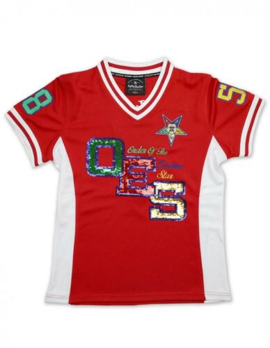 Order of the Eastern Star OES Football Jersey – Sequin- Size Medium-New!