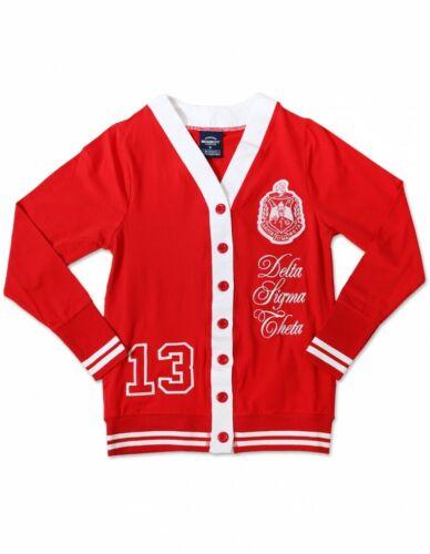 Delta Sigma Theta Sorority Cardigan- Red/White- Style 2- Size 3XL-New!