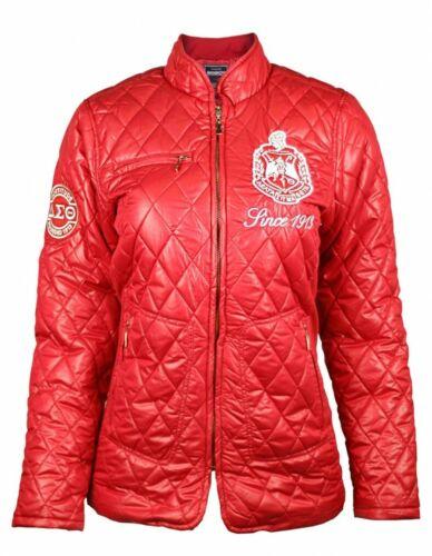 Delta Sigma Theta Sorority Padded Jacket- Red- Size Small-New!