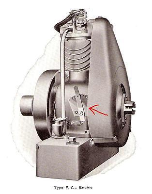 Vintage Everett Power Railroad Drilling Machine Throttle Briggs Ffbfhq Engine