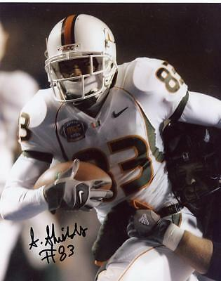 Sam Shields (SAM SHIELDS MIAMI HURRICANES SIGNED AUTOGRAPHED #83 8X10 PHOTO W/COA)
