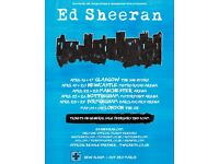 2 x Ed Sheeran Tickets, standing, 3rd of May, o2 arena