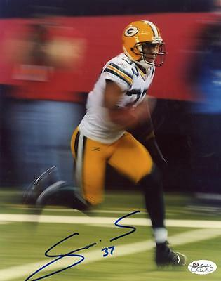 Sam Shields (SAM SHIELDS GREEN BAY PACKERS SIGNED AUTOGRAPHED 8X10 PHOTO JSA SOA)