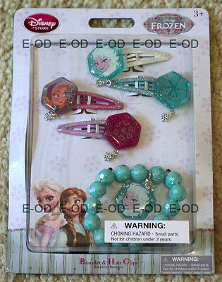 ANNA and ELSA FROZEN Bracelet and Hair Clips Disney Store Item NEW LAST ONE](Elsa Frozen Items)