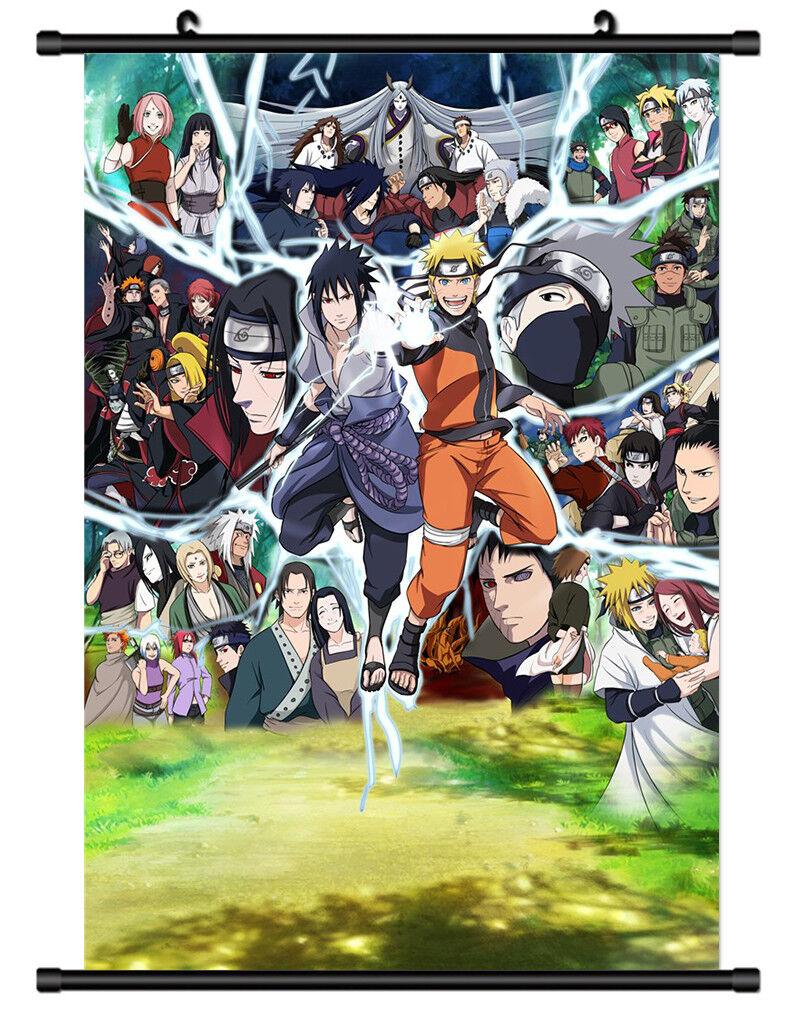 4973 NARUTO Sasuke Decor Poster Wall Scroll cosplay