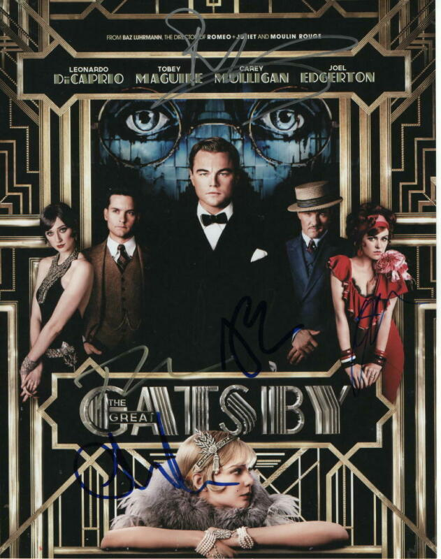 THE GREAT GATSBY CAST SIGNED AUTOGRAPH 11x14 PHOTO - TOBEY MAGUIRE, ISLA FISHER+