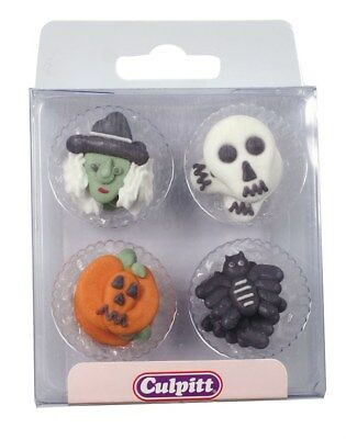 12 Halloween Figuren Kürbis Hexe Spinne Tortendeko Kuchen Zucker Figuren Süß