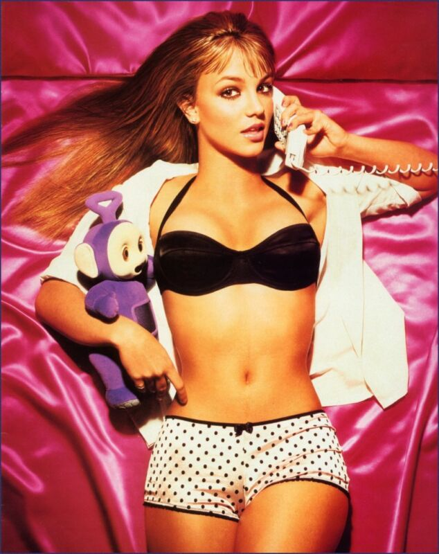 Britney Spears Posing With The Phone 8x10 Picture Celebrity Print