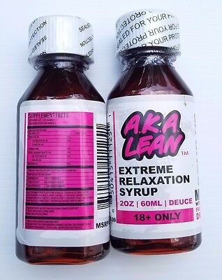 Aka Lean Extreme Relaxation Syrup Deuce  Legal Lean  2X2  Oz Bottles