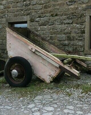 Old Farm Cart Useful Flower Cart Tub Trough Horse Drawn Muck Spreader Restore