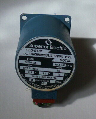 Superior Electric Slo-syn Stepper Motor M062-ce06 100in 2.6v Dc 3a Ss2000md7