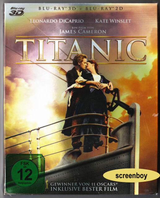 """TITANIC"" - Leonardo DiCaprio, Kate Winslet - BLU RAY - 4-Disc-Set - 3D + 2D"