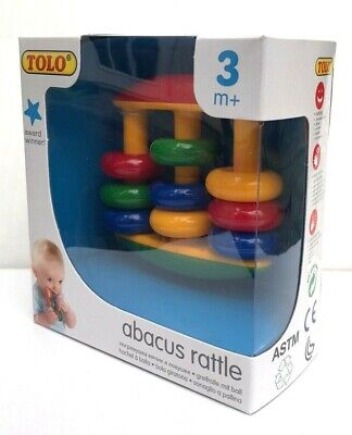 NEW TOLO Baby Rattle Abacus Rattle Teething Toy 3 months + CUTE US Seller