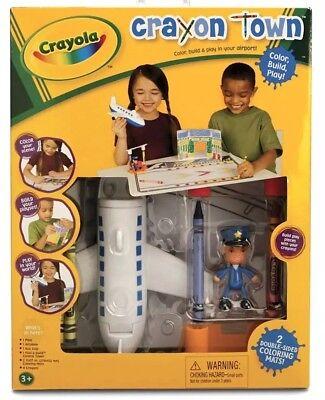 Crayola Crayon Town Airport, Control Tower Fold & Build Set #67006 NEW