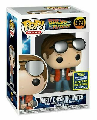 FUNKO POP! Marty Checking Watch Back to the Future SDCC 2020 Exclusive PREORDER